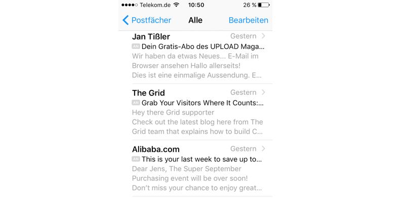 Die optimale Länge der E-Mail Betreffzeile