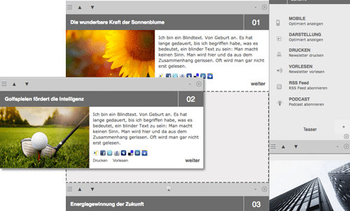 Flexible Crossmedia-Mailings dank CMS und Drag&Drop mit der Enterprise Email Marketing Solution
