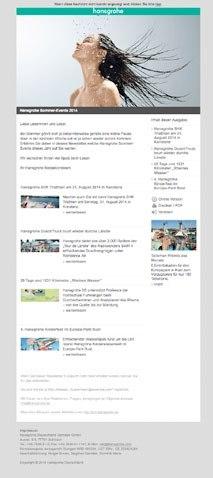 hansgrohe Beispiel Newsletter