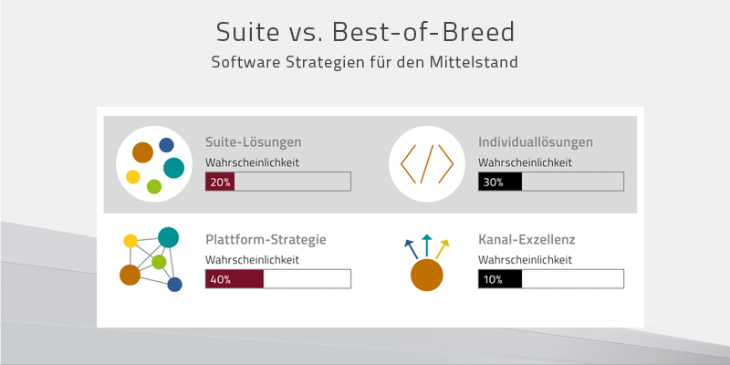 Suite vs. Best of Breed – Software Strategien für den Mittelstand