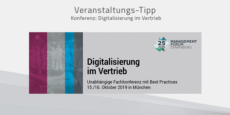 Konferenz für Ihren digitalen Vorsprung im Vertrieb