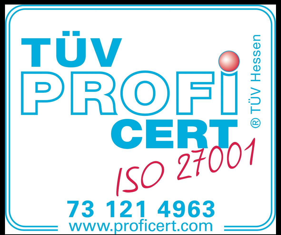TUEV Hessen ISO-Zertifizierung