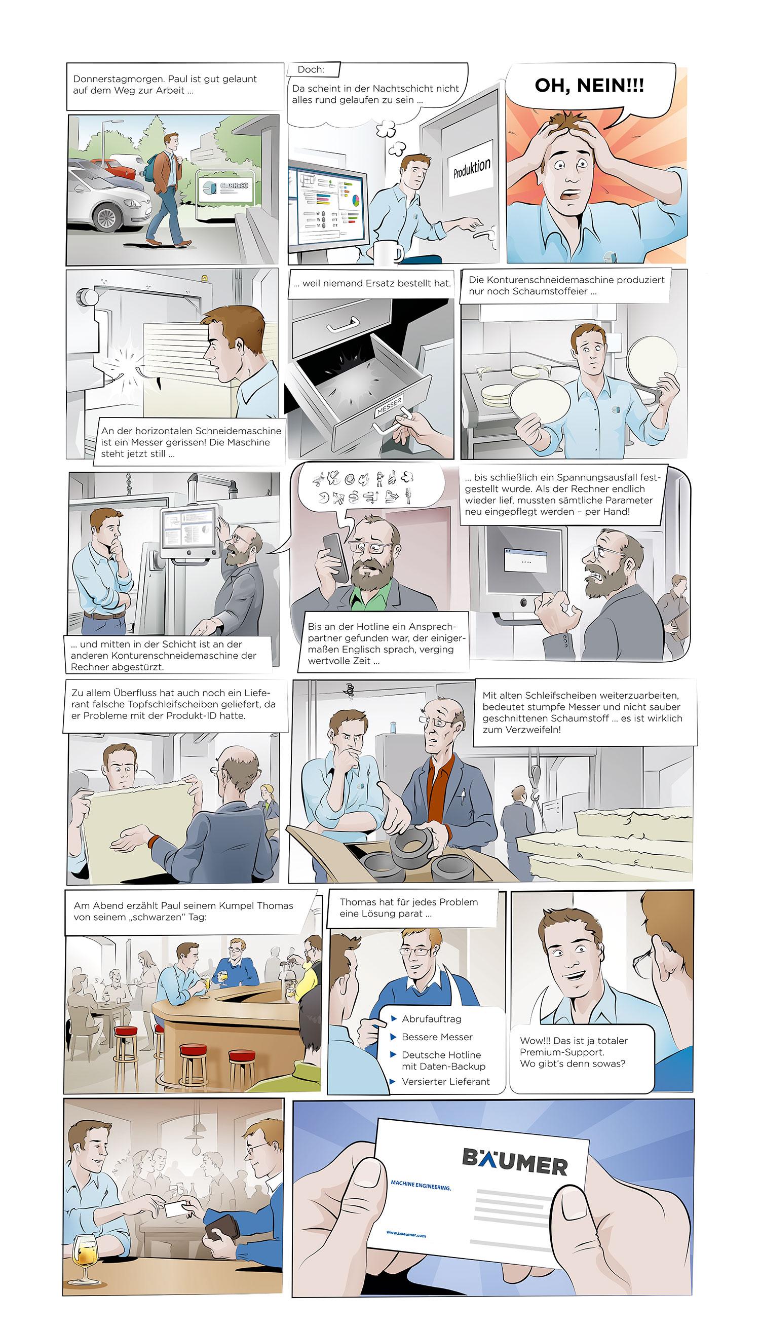 Landingpage zum Comic-Download (Quelle: Albrecht Bäumer GmbH & Co. KG)