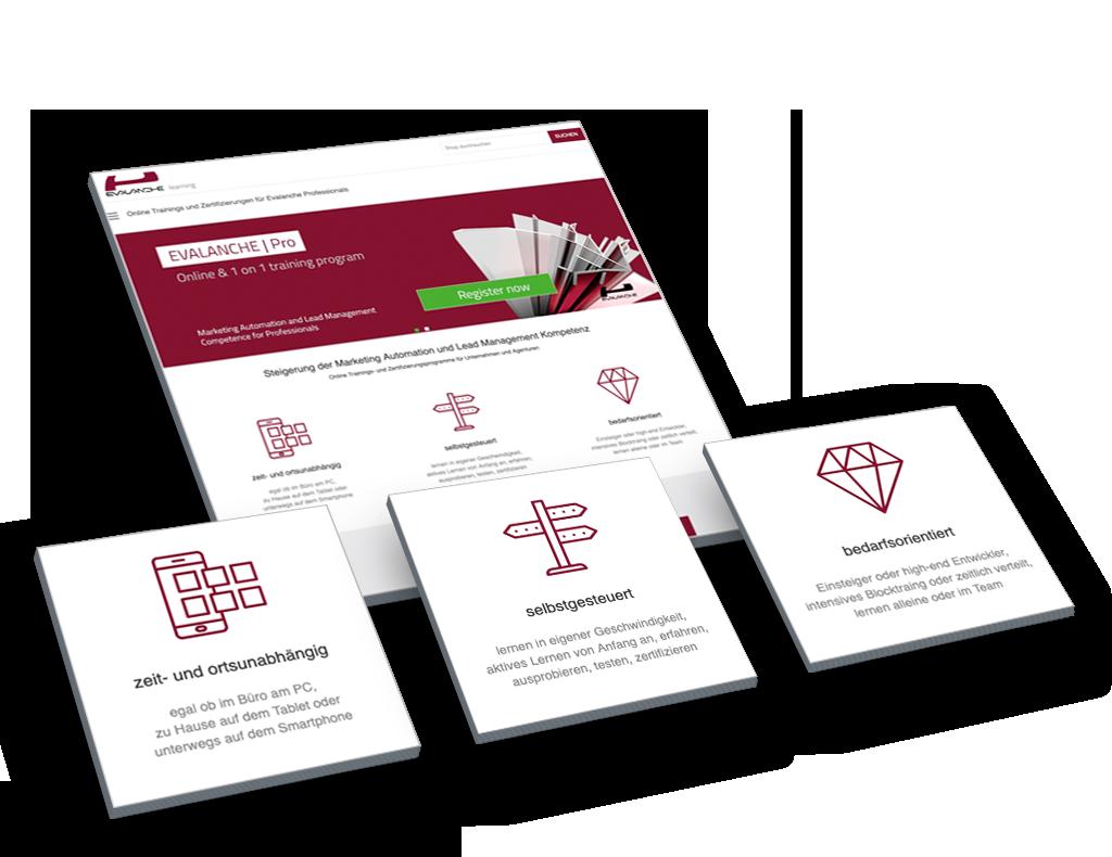Evalanche Marketing und Sales Automation Plattform: Academy