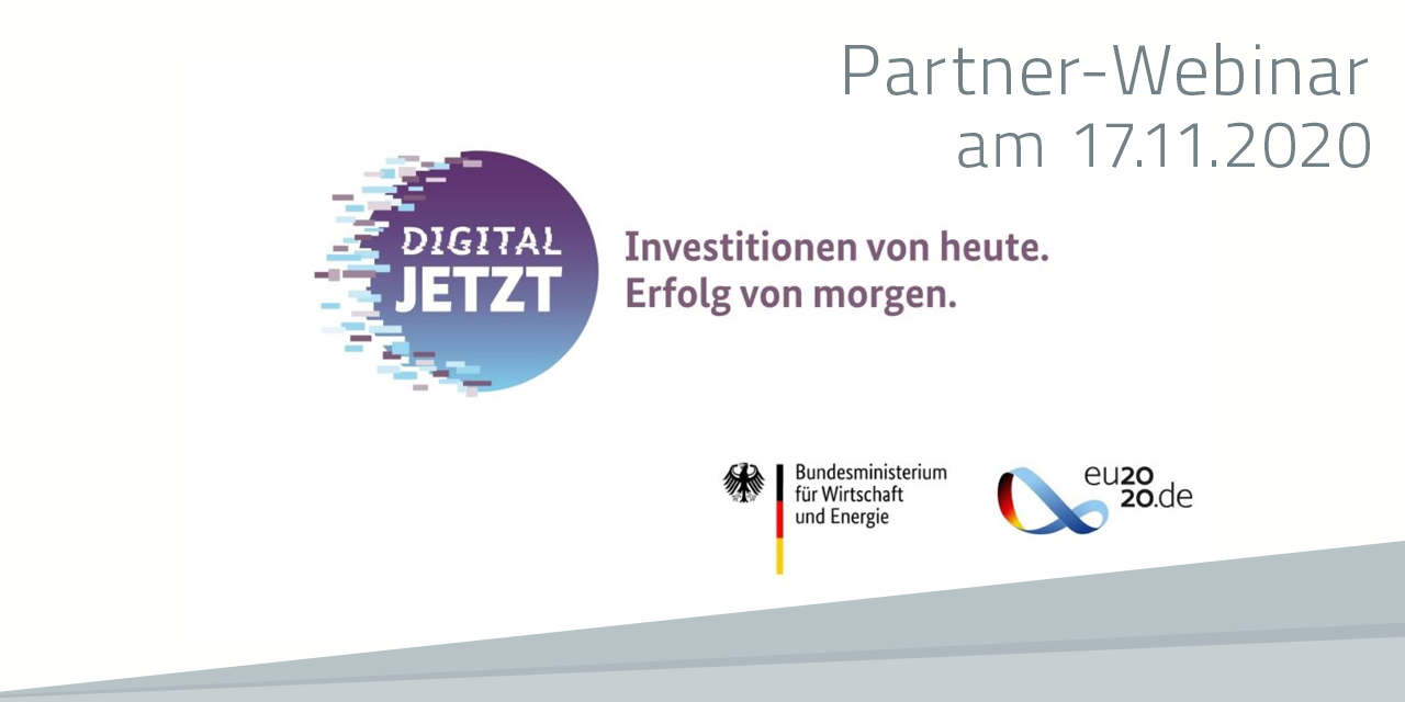 "Webinar zum Förderprogramm ""Digital jetzt"""