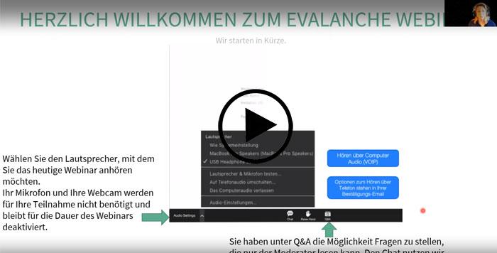 divia - Evalanche Grundlagen Webinar