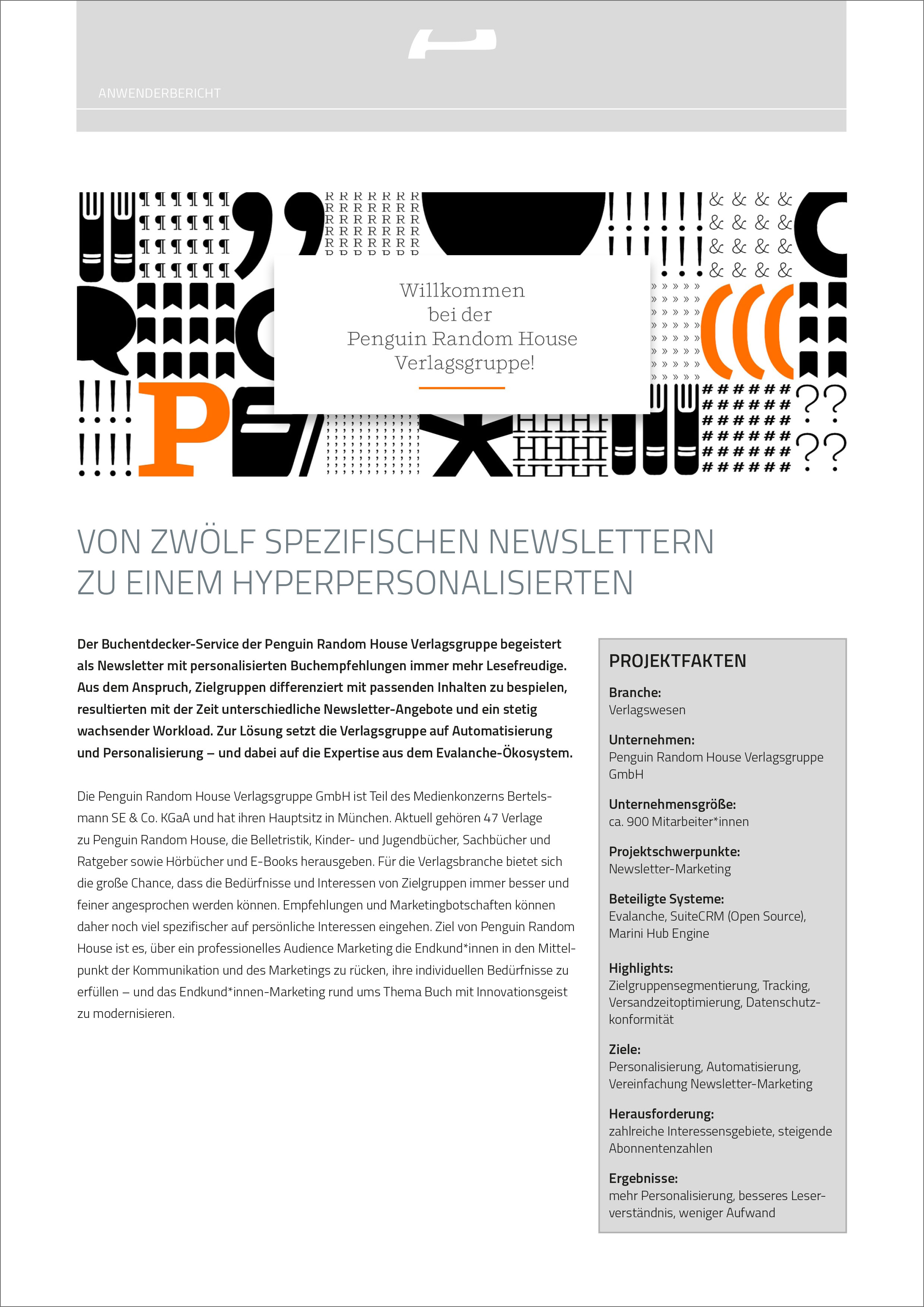 Anwenderbericht-PDF mit der Verlagsgruppe Penguin Random House