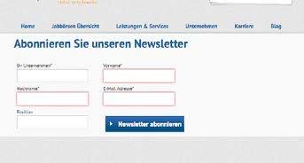 Beispiel Anmeldeformular Newsletter